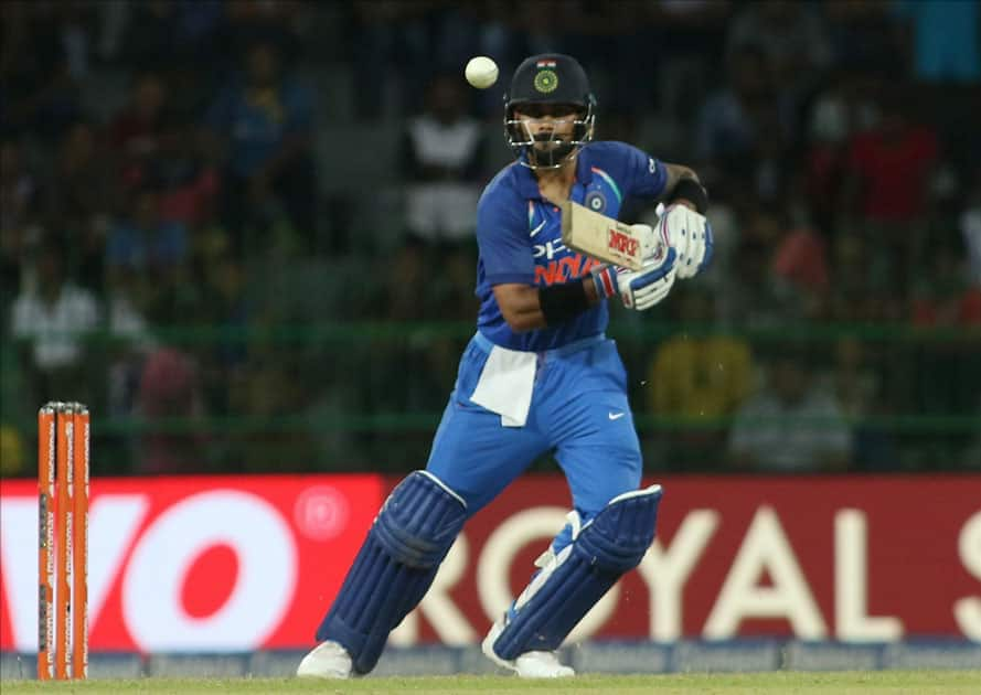 Indian skipper Virat Kohli in action
