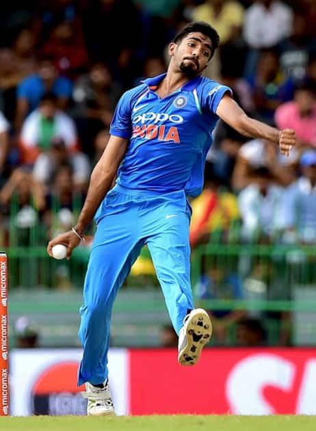 India's Jasprit Bumarah delivers a ball during the fifth ODI
