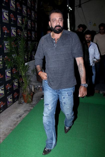 Sanjay dutt during the promotion