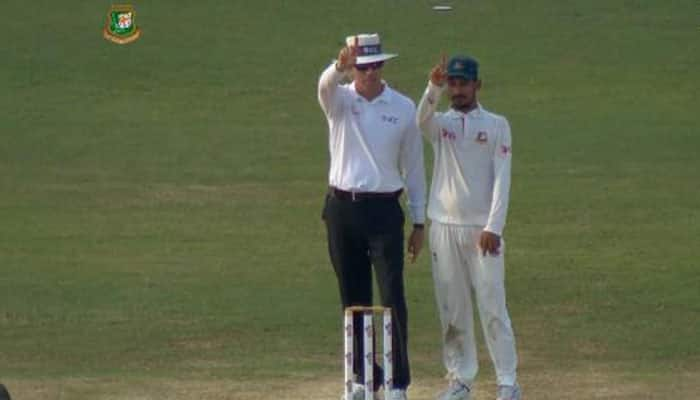Watch: Bangladesh's Nasir Hossain gives a unique send-off to Pat Cummins