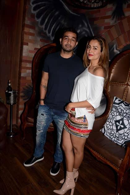 Actress Amrita Arora along with her husband Shakeel Ladak
