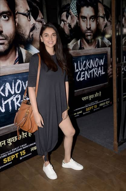 Actress Aditi Rao Hydari during the special screening of upcoming film Lucknow Central