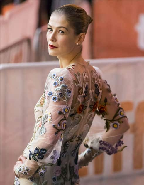 Actress Rosamund Pike attends the premiere of film