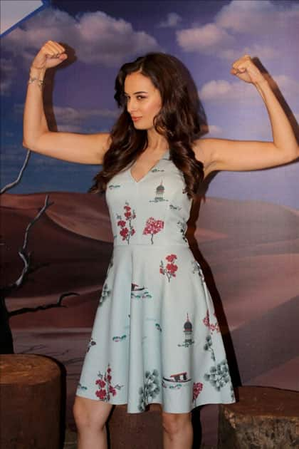 Actress Evelyn Sharma during the interview of Web-series