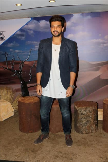 Actor Karan Kundra during the interview of Web-series