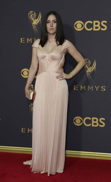 Hollywood`s elite gathered on Sunday as television`s glittering Emmys took place in Los Angeles.