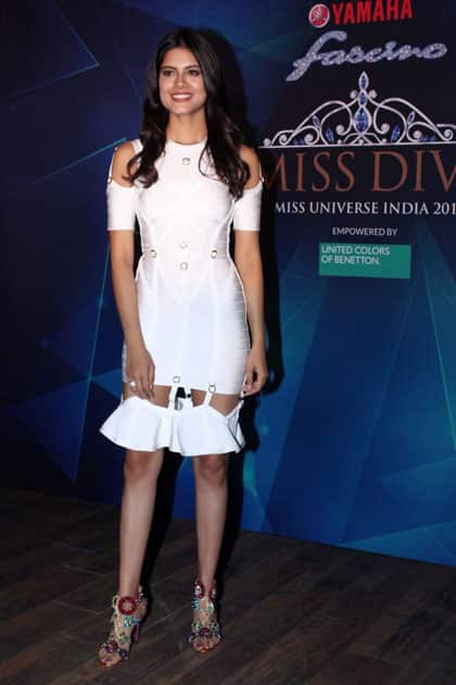Miss Diva 2016 Roshmitha Harimurthy during the 1st Ever Bloggers Meet Of Yamaha Fascino Miss Diva Miss Universe India 2017