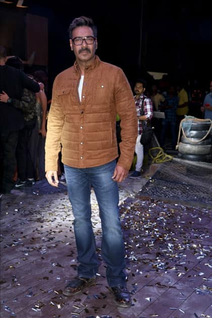 Actor Ajay Devgan during the promotion of his upcoming film