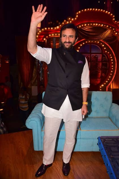 Actor Saif Ali Khan during promotion of his upcoming film