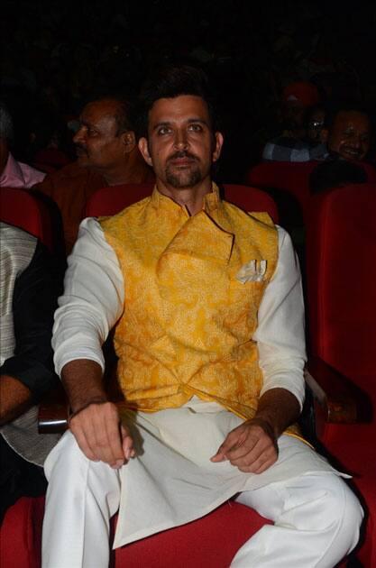 Actor Hrithik Roshan during the celebration of Basanti Chola Diwas - 100th Birth Anniversary Of Bhagat Singh in Mumbai.