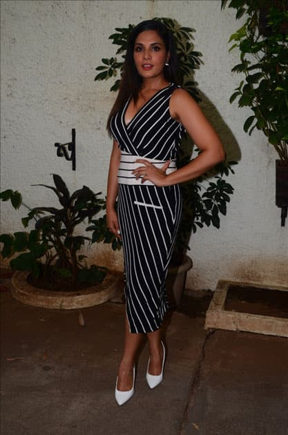 Actress Richa Chadda during the trailer launch of film