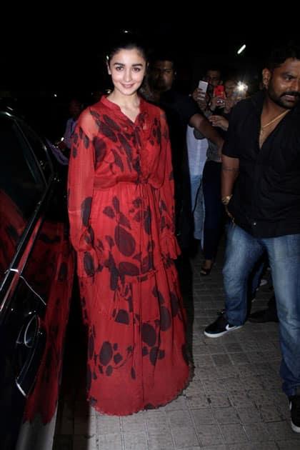 Actress Alia Bhatt during the special screening of film