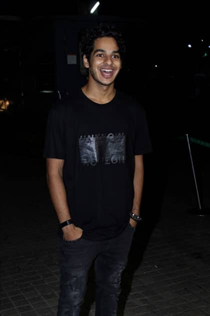 Actor Ishaan Khattar during the special screening of film