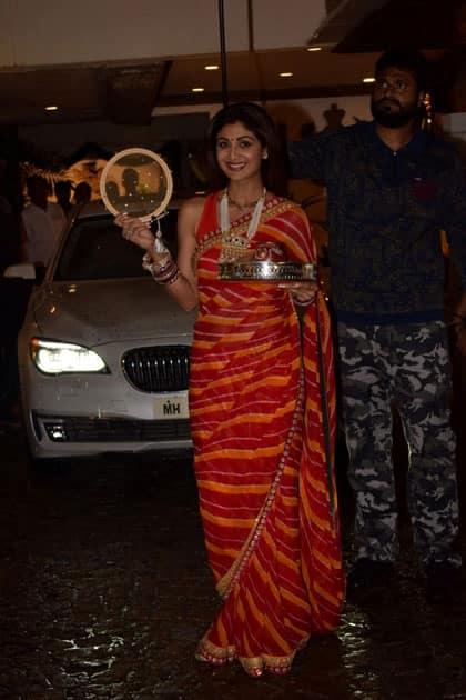 Actress Shilpa Shetty Kundra during the celebration of