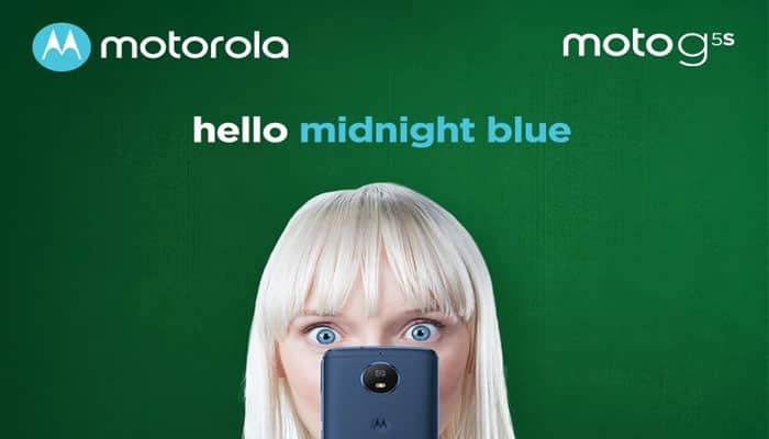 Now, Moto G5S in 'midnight blue' colour