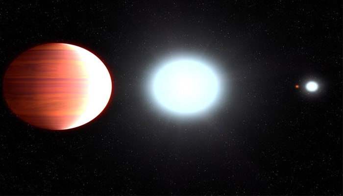 Sunscreen snowfall on a giant planet outside solar system