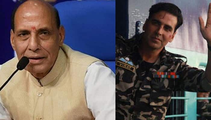 Rajnath Singh hails Akshay Kumar for supporting Indian Soldiers