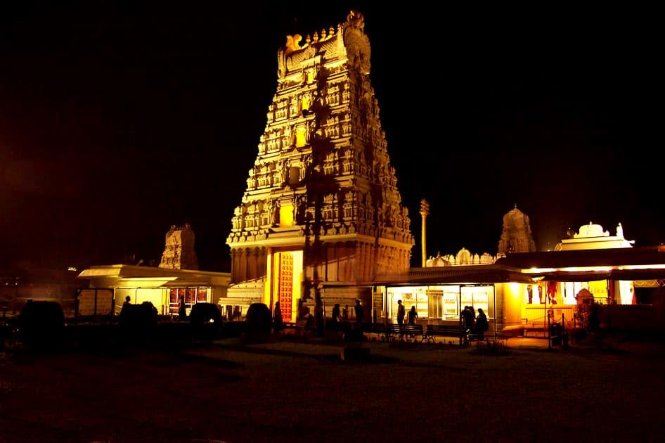Tirumala Temple Night view