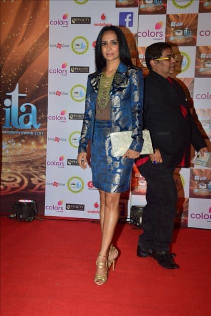 Actress Suchitra Pillai at the red carpet of ITA Awards in Mumbai.