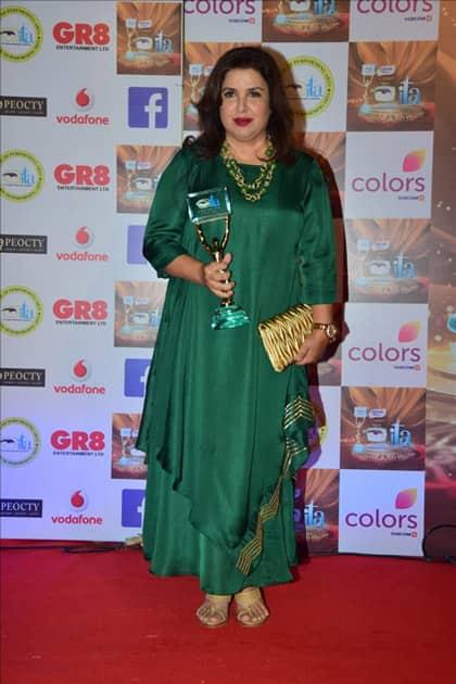 Director Farah Khan at the red carpet of ITA Awards in Mumbai.