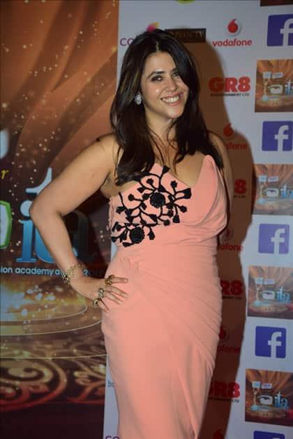 Producer Ekta Kapoor at the red carpet of ITA Awards in Mumbai.