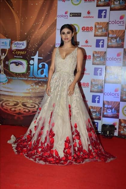 Actress Mouni Roy at the red carpet of ITA Awards in Mumbai.