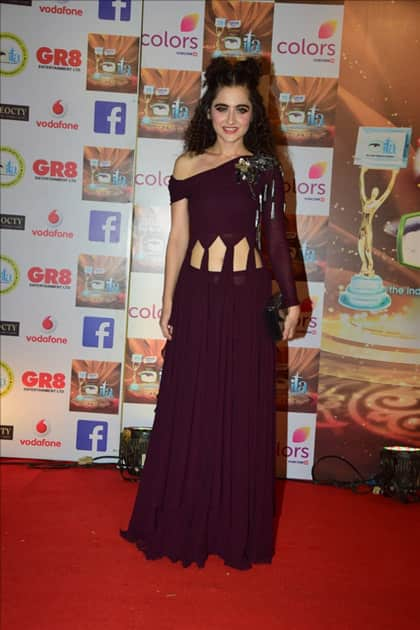 Actress Sanjeeda Sheikh at the red carpet of ITA Awards in Mumbai.