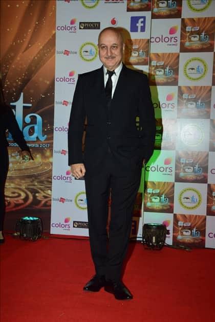 Actor Anupam Kher at the red carpet of ITA Awards in Mumbai.