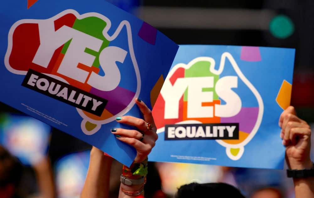 Australians vote in favour of same-sex marriage