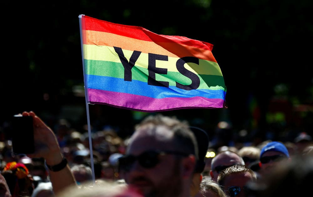 61.6 per cent of Australians said yes to same-sex marriage in a postal survey