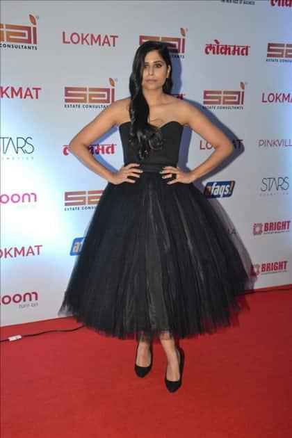 Actress Sai Tamhankar at the red carpet of