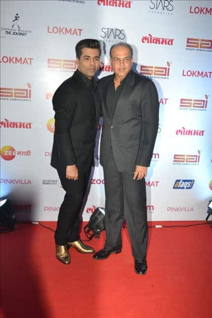 Directors Karan Johar and Ashutosh Gowariker at the red carpet of