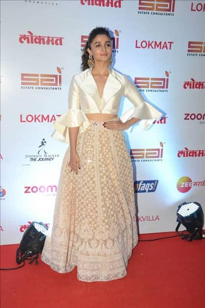 Actress Alia Bhatt on the red carpet of