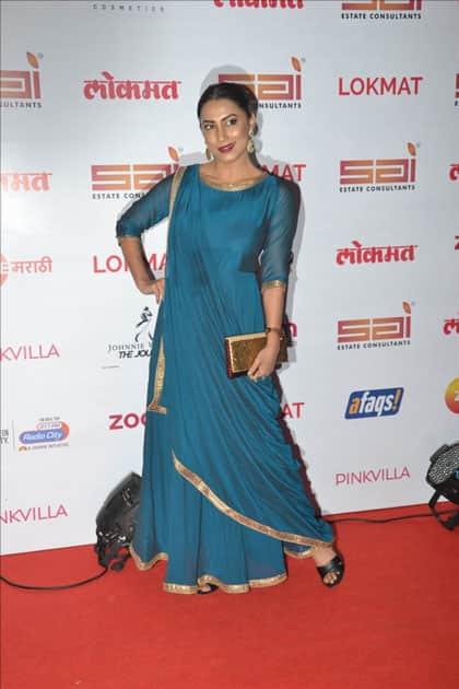 Actress Kranti Redkar at the red carpet of