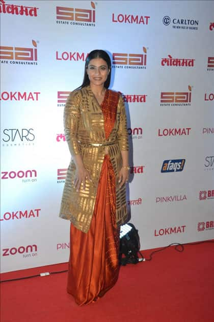 Actress Kajol at the red carpet of