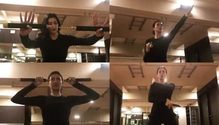 Sushmita Sen gifts herself a nunchaku on birthday, displays her skills like a pro – Watch unmissable Videos