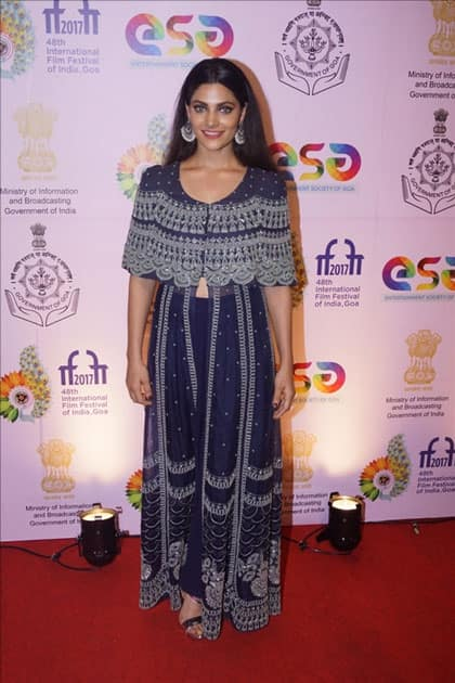 Actress Saiyami Kher during the screening of film