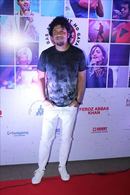 Singer Papon at the red carpet of Lalkaar concert in Mumbai.