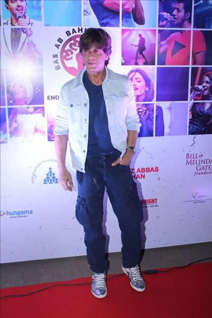 Actors Shah Rukh Khan at the red carpet of Lalkaar concert in Mumbai.