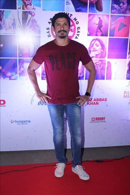 Actor Farhan Akhtar at the red carpet of Lalkaar concert in Mumbai.