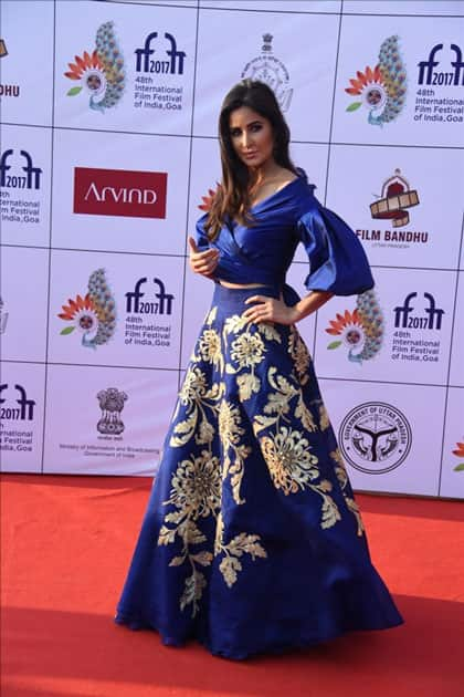 Actress Katrina Kaif at the red carpet of closing ceremony of 48th International Film Festival of India in Panaji, Goa.