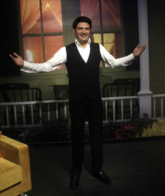 A wax statue of comedian-actor Kapil Sharma at Madame Tussauds Wax Museum in New Delhi.