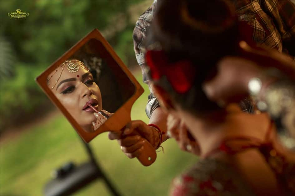 Actress Aashka Goradia during her wedding in Mumbai.