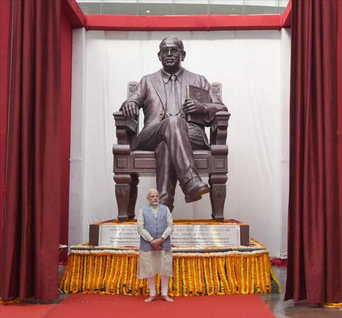 Prime Minister Narendra Modi at the newly inaugurated Dr. Ambedkar International Centre in New Delhi.