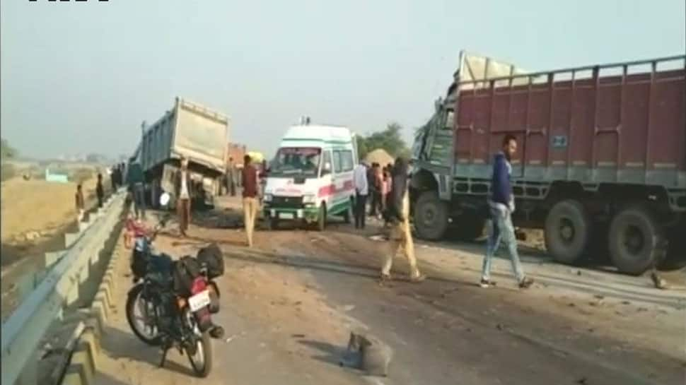 Kanpur: 5 killed, 4 critically injured in collision between two trucks in Sajeti