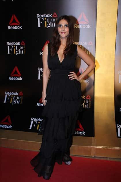 Actress Vaani Kapoor at the Reebok`s Fit To Fight awards ceremony in Mumbai.