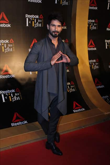Actor Shahid Kapoor at the Reebok`s Fit To Fight awards ceremony in Mumbai.