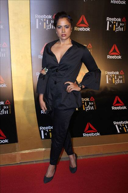 Actress Sameera Reddy at the Reebok`s Fit To Fight awards ceremony in Mumbai.