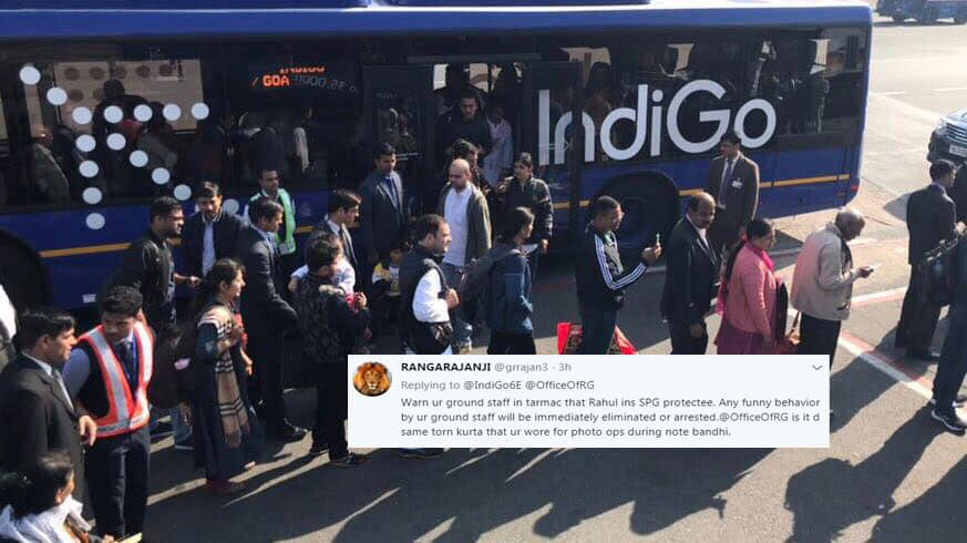 Photo: Rahul Gandhi in queue to take IndiGo flight, Twitter asks airline to 'maintain calm'