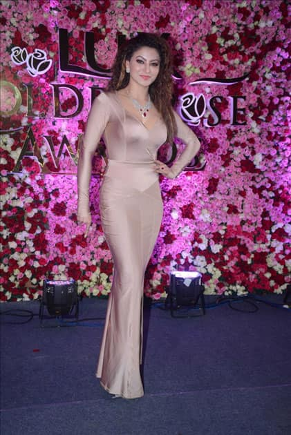 Actress Urvashi Rautela at the red carpet of